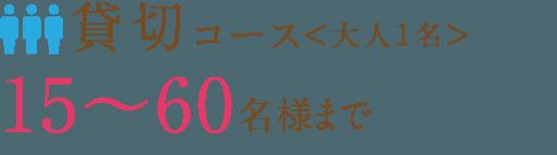 貸切コース<大人1名>